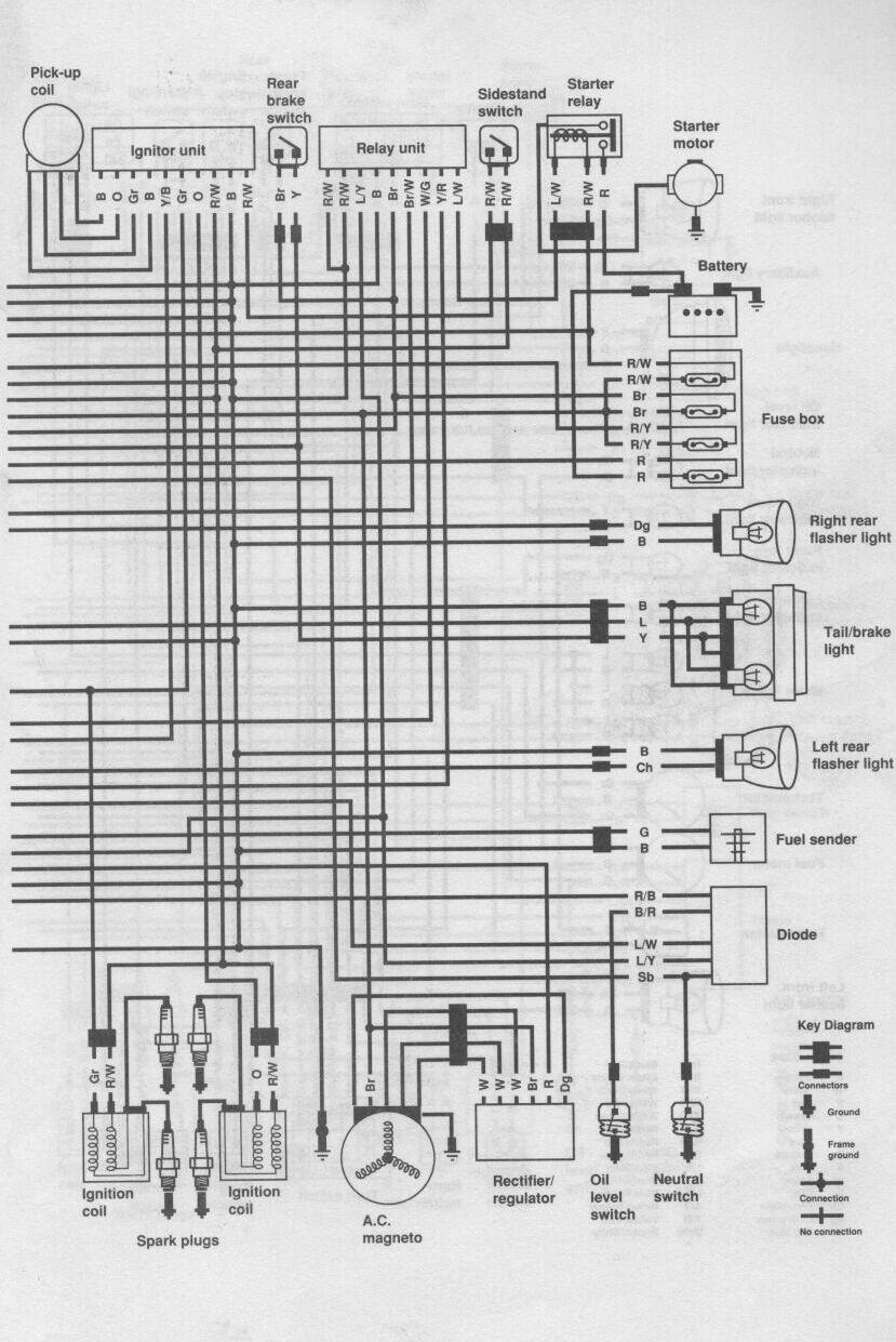 xj600 wiring diagram