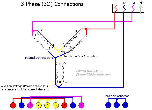 low voltage 6 lead motor wiring diagram    587 x 427