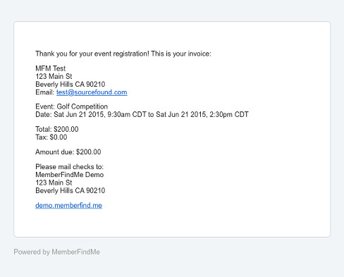Send Event Payment Due Invoices - MembershipWorks