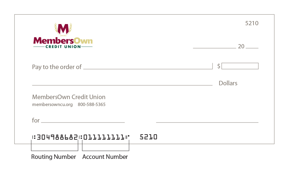 Automatic Payment  Direct Deposit Setup - MembersOwn Credit Union