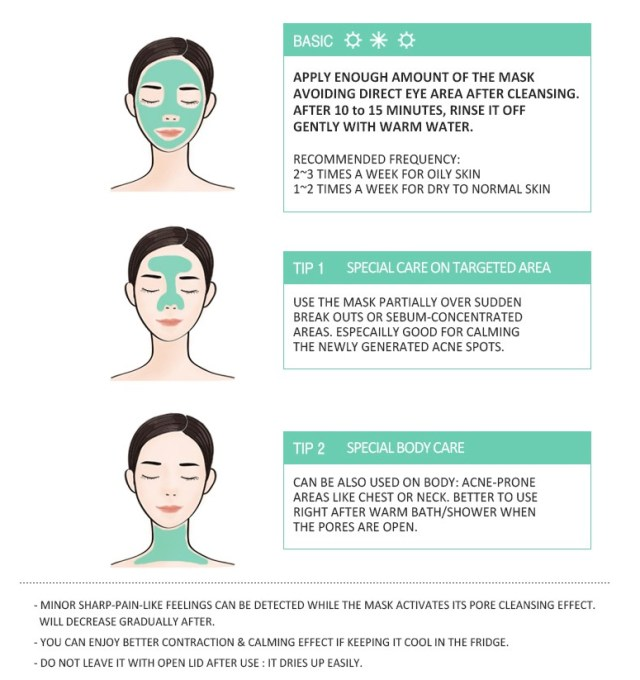 Clay Mask Step by Step