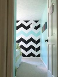 Easy tutorial on How To Paint Chevron Stripes: Black ...