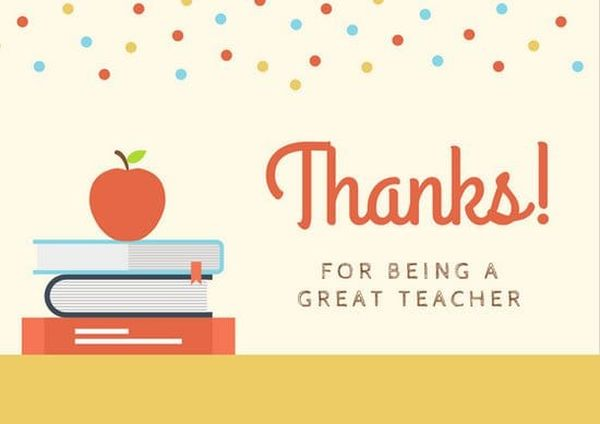 Thank You Note to Teacher from Parent  Thank you Letter to Teacher