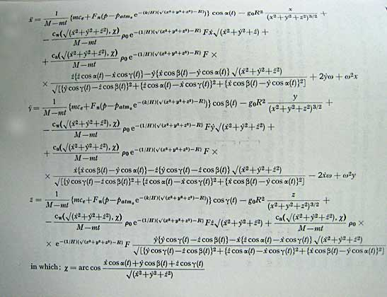 Is rocket science really so difficult? Here we have the equations - apology letter to family