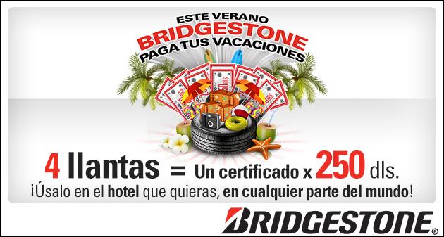 ¡Bridgestone paga tus vacaciones!