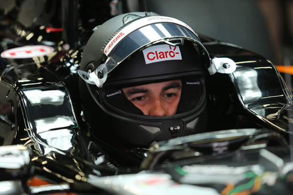 Checo Pérez y Nico Hulkenberg, por los últimos test en Montmeló