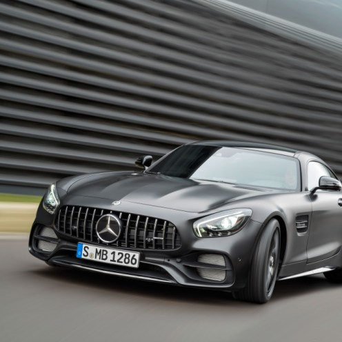 Mercedes-AMG GT C Edition 50, graphitgrau magno, Fahraufnahme ;Kraftstoffverbrauch kombiniert: 11,3 l/100 km, CO2-Emissionen kombiniert: 257 g/km Mercedes-AMG GT C Edition 50, graphite grey magno, driving shot; Fuel consumption combined: 11.3 l/100 km; Combined CO2 emissions: 257 g/km