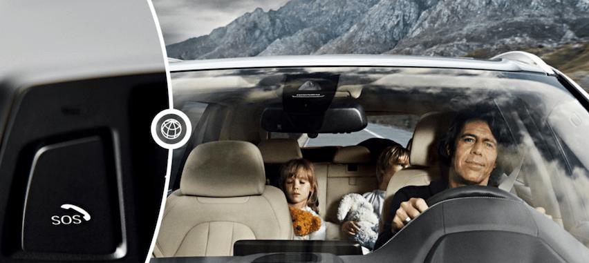 """Botones de ayuda en un accidente lo conectarán directamente o mandarán ayuda en el menor tiempo posible y la mayor información de su localización y situación particular. En BMW –imagen–  lo llaman """"Connected Drive""""."""