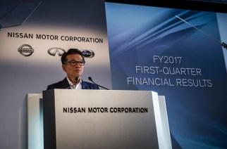 Nissan reporta resultados del primer trimestre de su año fiscal 2017 (abril – junio)