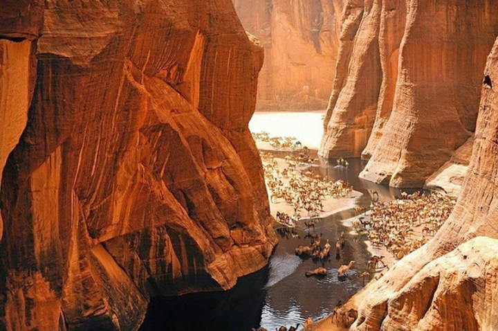 Ancient Pool of Water in the Middle of Sahara Desert