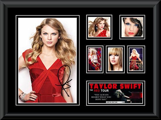 Taylor Swift LE Montage Mat Framed 2  Q - Z Music  Music
