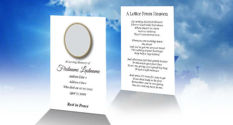 Free Wallet Memorial Card Template in InDesign Format - Download - free memorial template