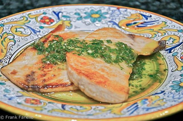Swordfish with Salmoriglio Sauce