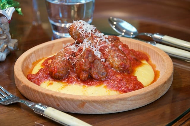Polenta with Sausage and Spareribs