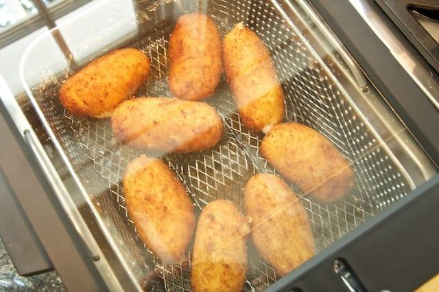 Crocchette (Potato Croquettes) fresh from the fryer...