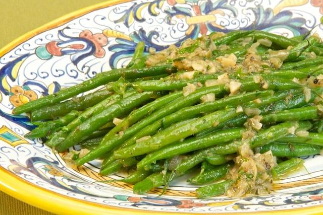 Fagiolini in salsa di acciughe (Green beans in Anchovy Sauce)