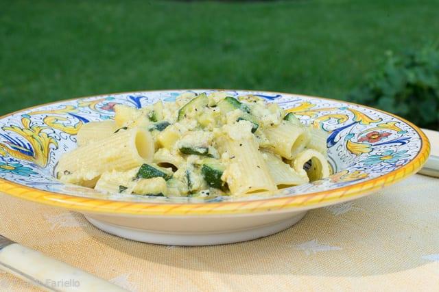 Carbonara vegetariana (Vegetarian Carbonara)
