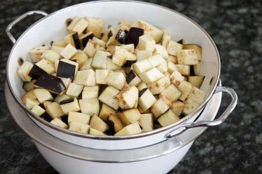 Melanzane al funghetto (prep 1)