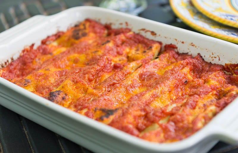 Spinach And Ricotta Manicotti Recipe — Dishmaps