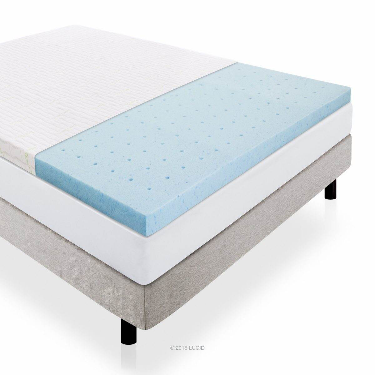 Thin Mattress Topper Lucid Gel Infused Memory Foam Mattress Topper Review