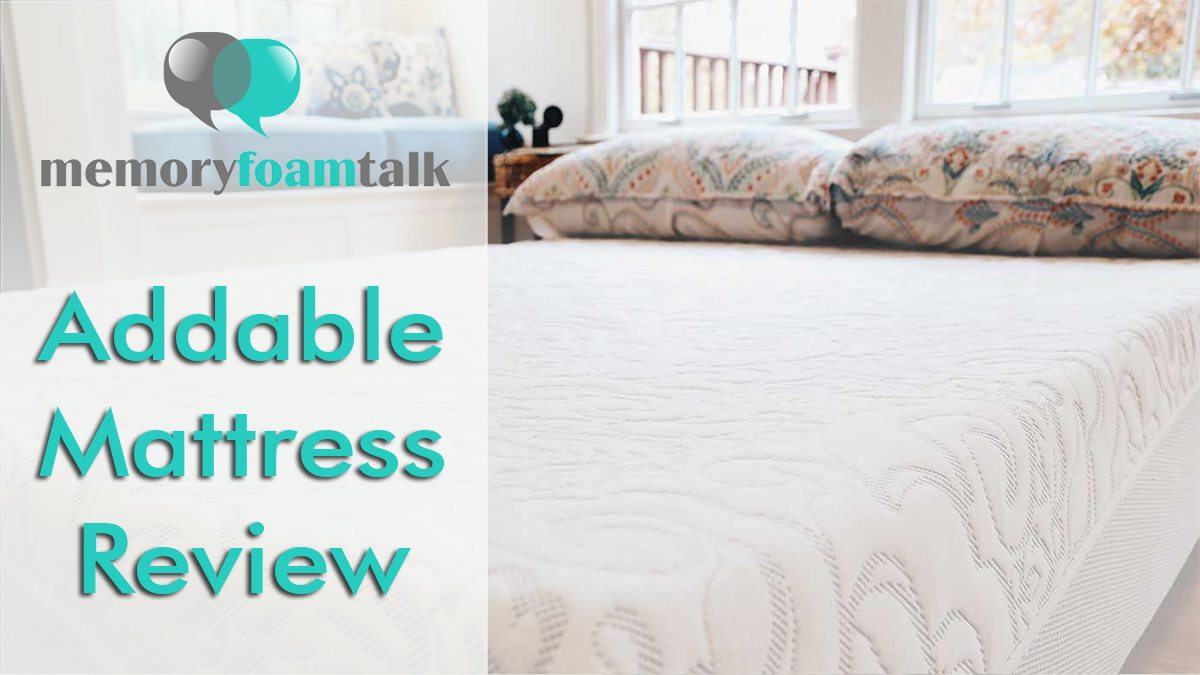 Firmest Mattresses On The Market Addable Mattress Review Addable Mattress Memory Foam Talk