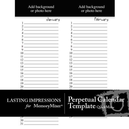 perpetual calendar printable - Goalgoodwinmetals - perpetual calendar templates