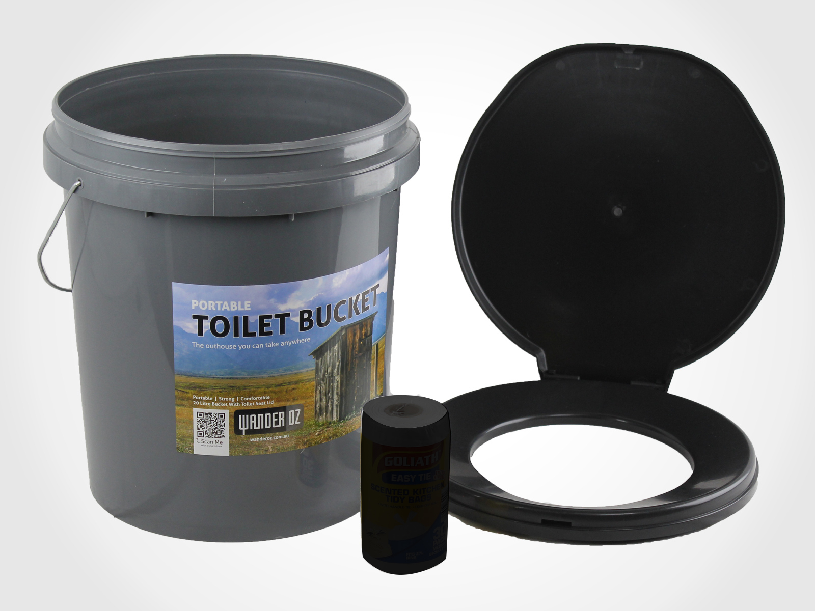 Camping Toilet Portable Outdoor Toilet Box 20l Thunder Boom Bucket Travel Camping