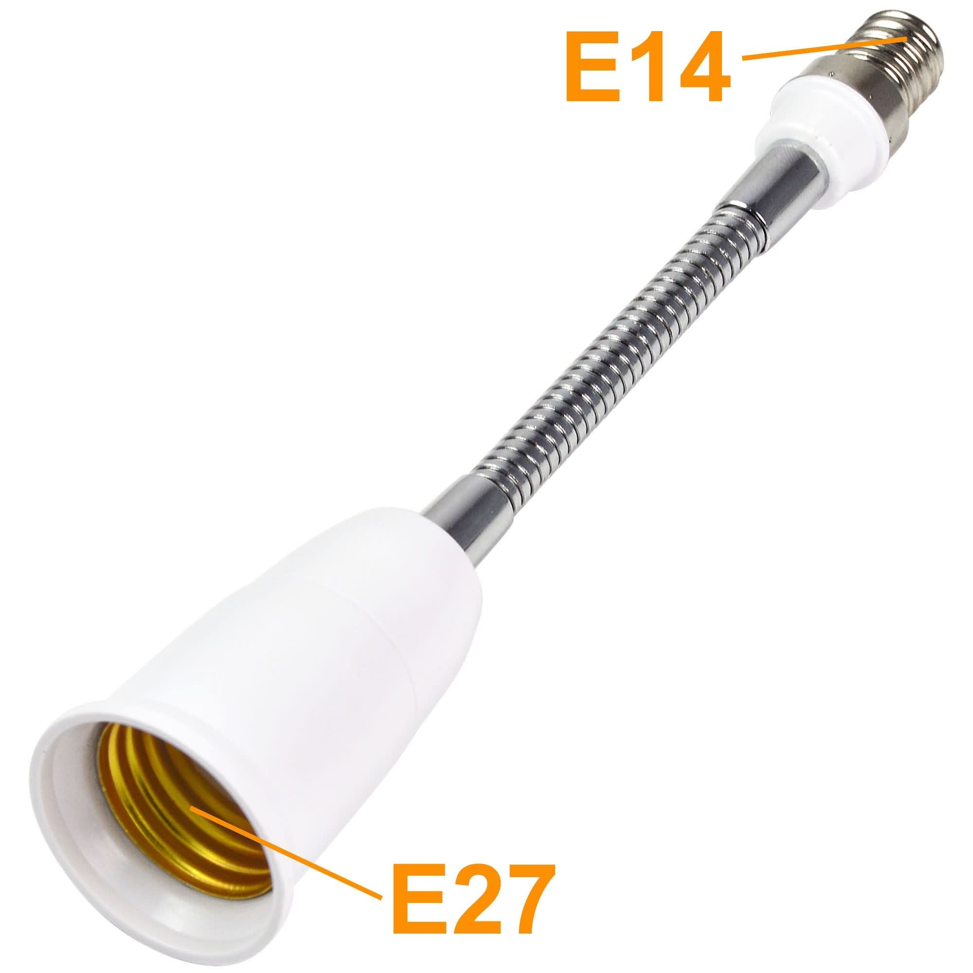 E27 E14 Mengsled Mengs 189mm E14 To E27 Light Bulb Flexible