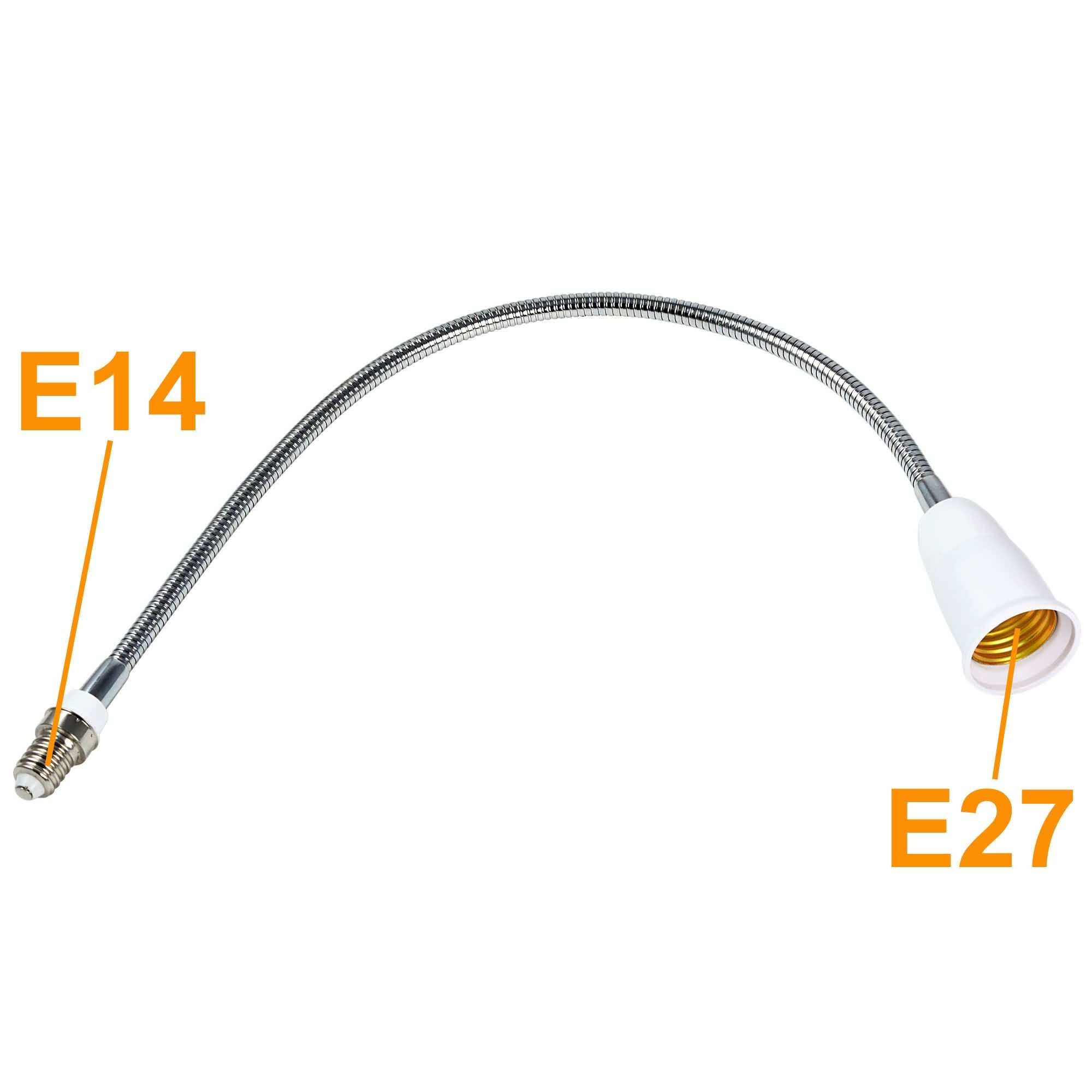 E27 E14 Mengsled Mengs 492mm E14 To E27 Light Bulb Flexible