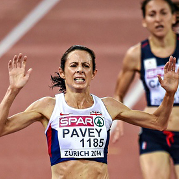 Britain's Jo Pavey in Zurich