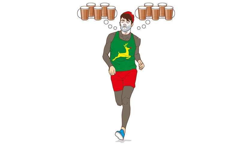 running at christmas