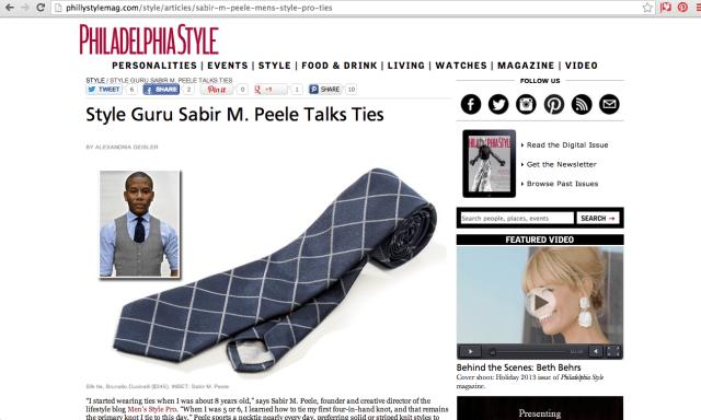 Sabir Peele in Philly Style Magazine Brunello Cucinelli Feature