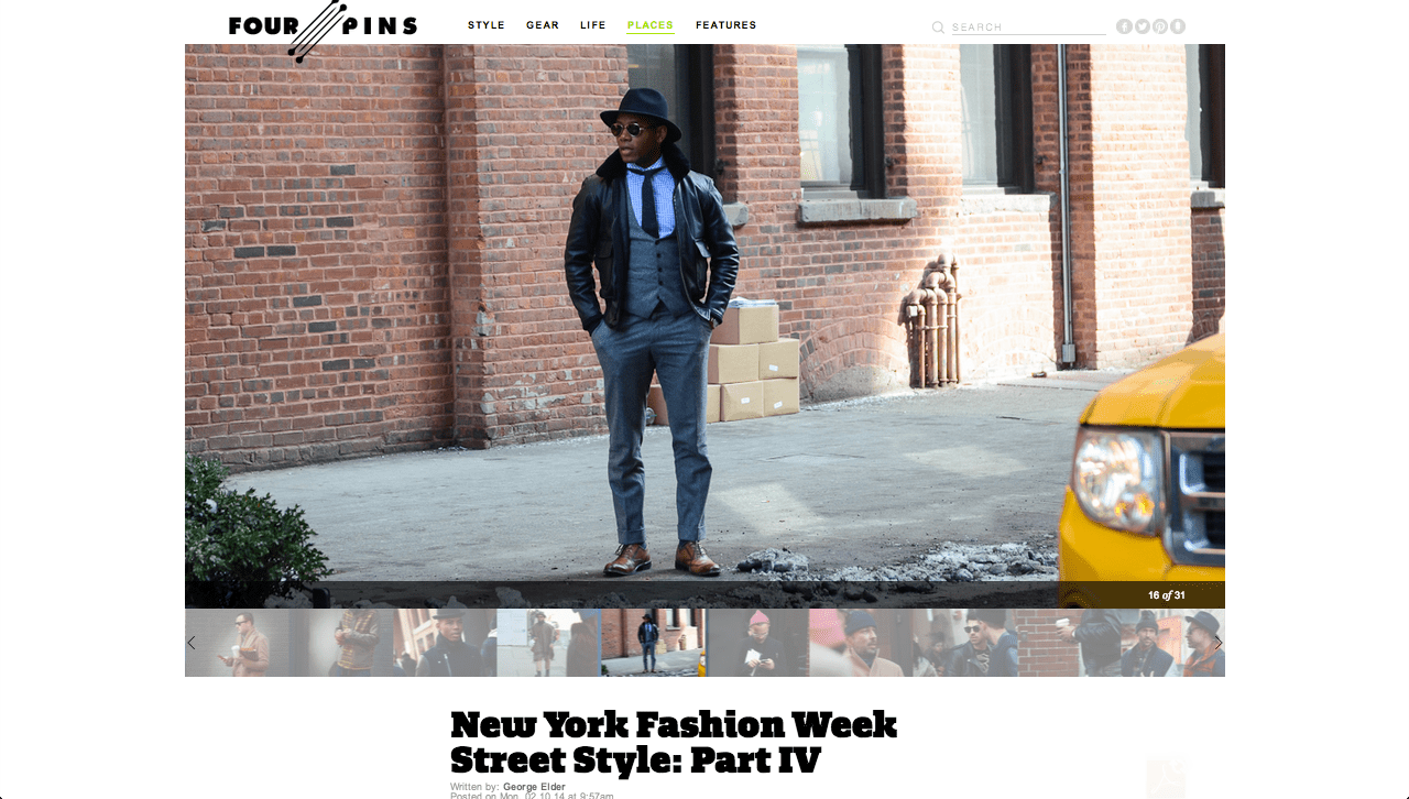 Men's Style Pro at NYFW on Four-Pins
