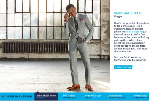Sabir Peele In Johnston & Murphy Campaign