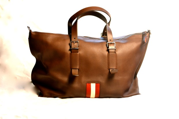 Bally Striped Weekender Bag