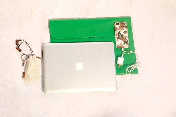 Macbook Air with Camo iPhone Case