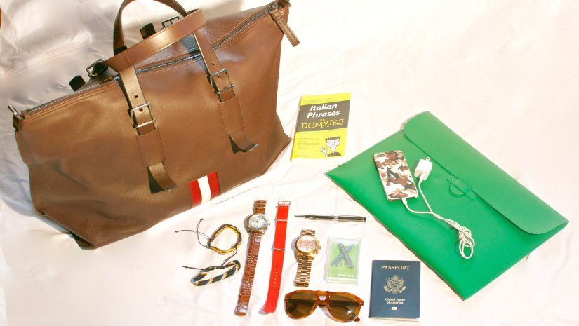 Carry On Travel with Bally Striped Weekend Bag via Men's Style Pro