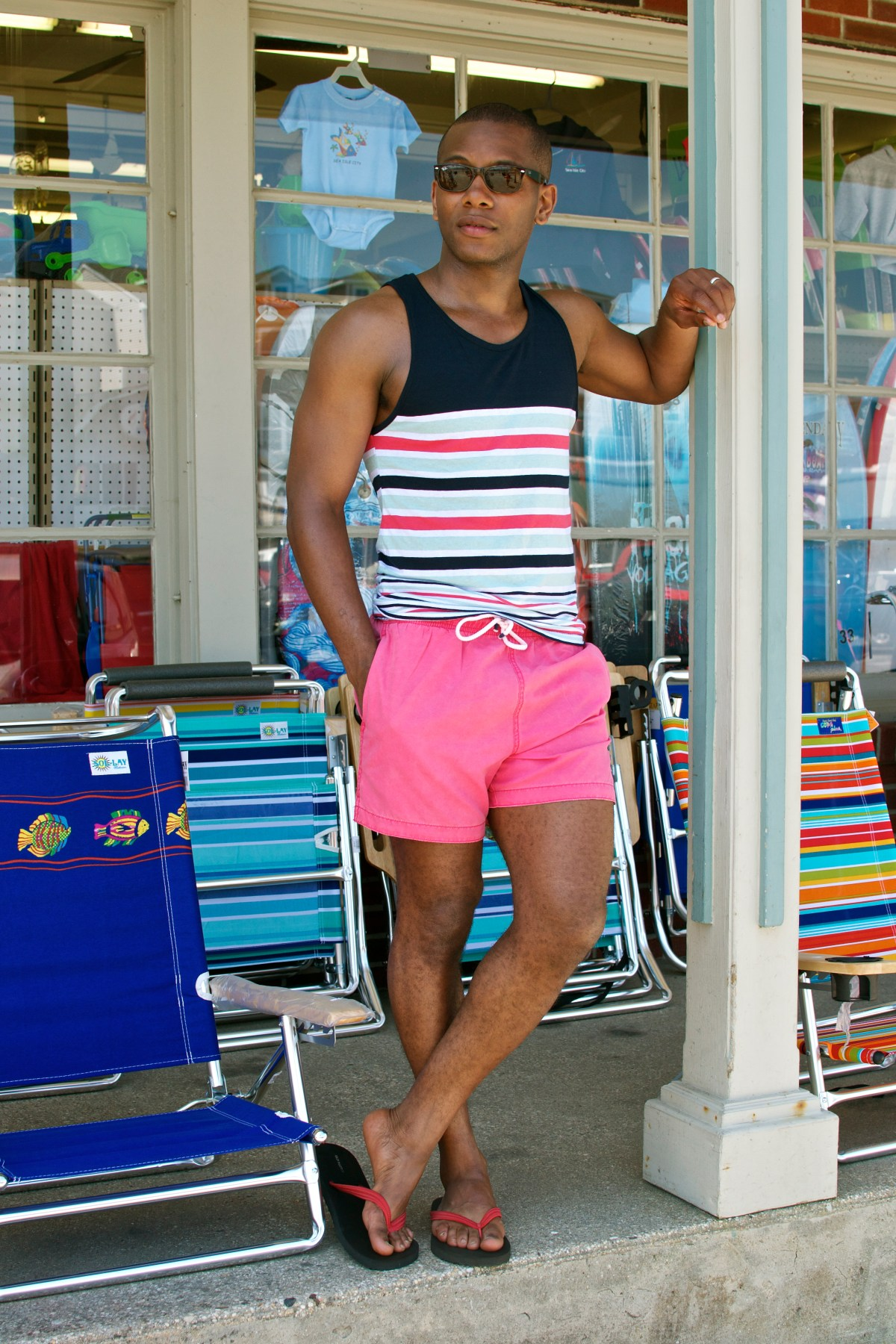 H&M Solid Pink Swim Trunks