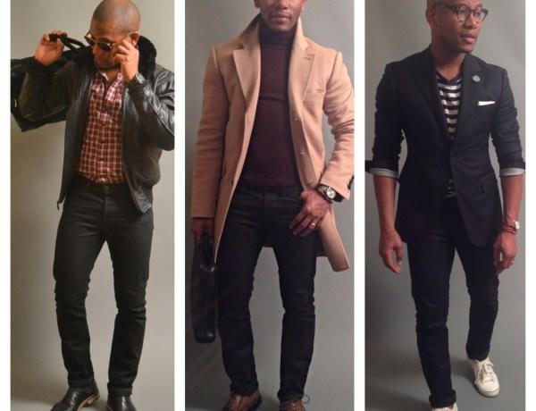 Sabir Peele In 3x1 Black Denim Jeans