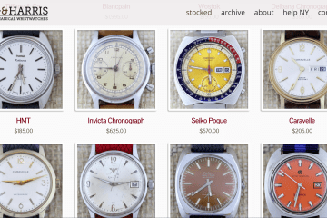 Theo & Harris Vintage Watches Header Image