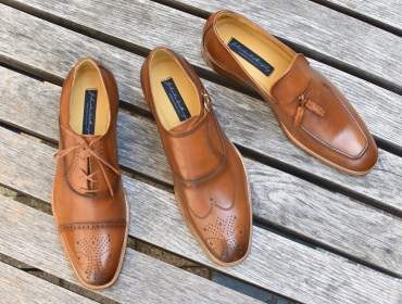 Johnston & Murphy Cates Collection Tan Calf Leather Shoes