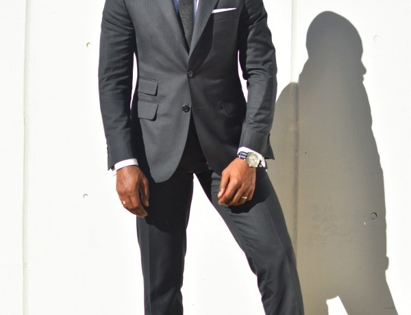 Sabir M. Peele in Oliver Wicks Track Stripe Suit 2