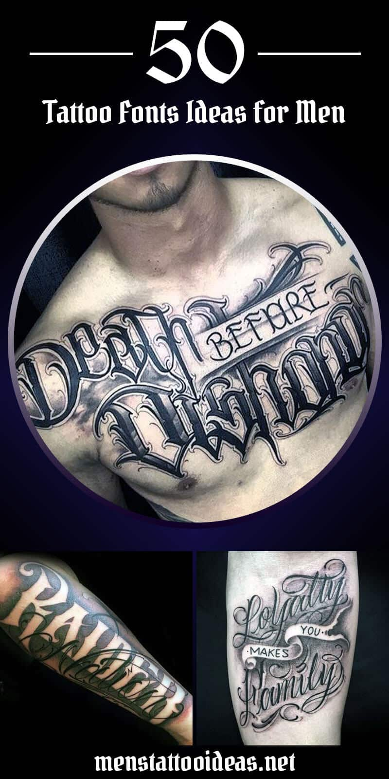 Best Calligraphy Tattoo Tattoo Fonts Ideas For Men Ideas And Designs For Guys