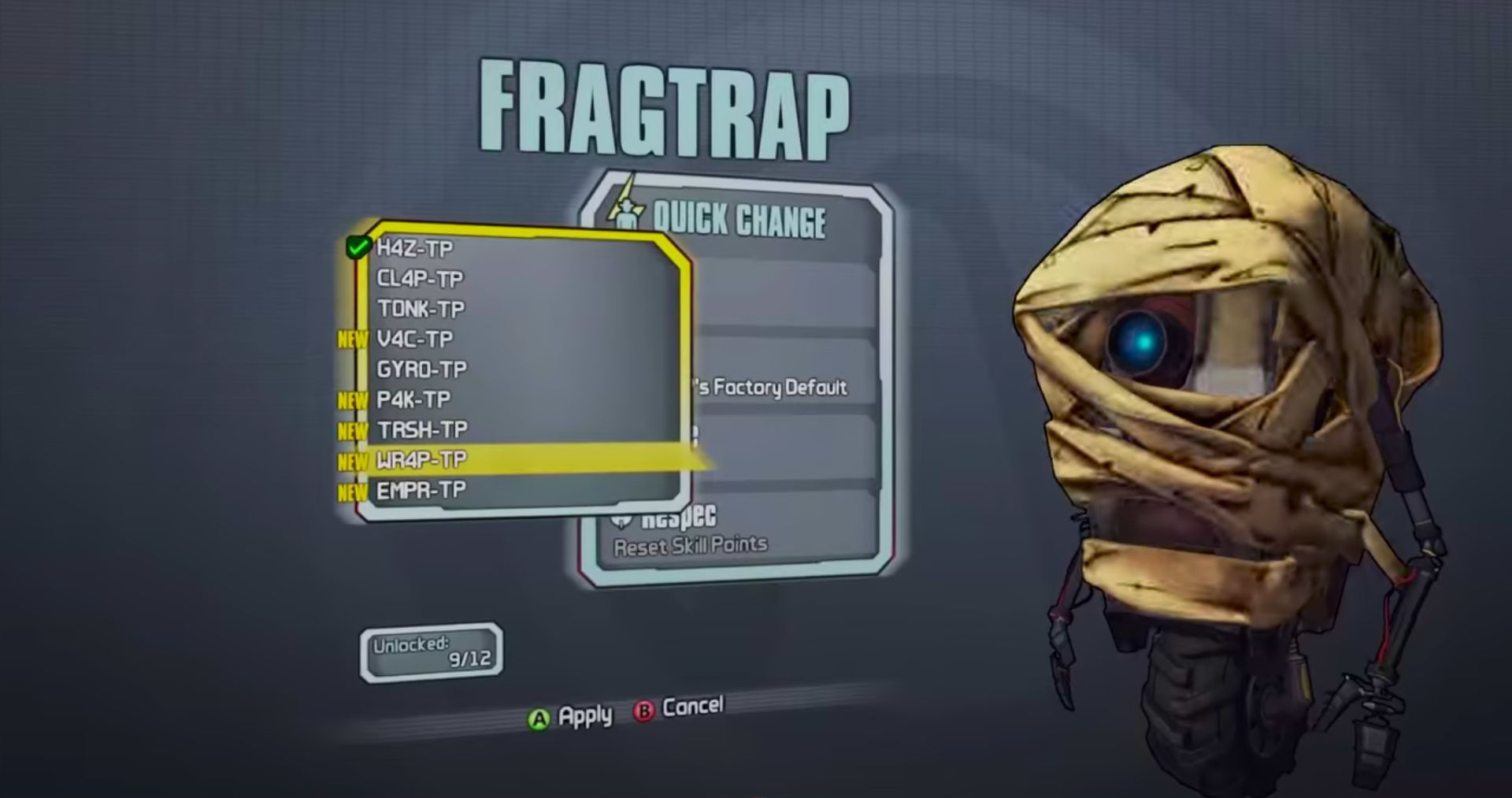 the first claptrap skins mentalmars