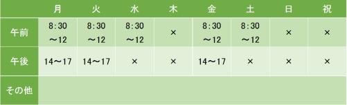 若宮大路鎌倉メンタルクリニックの診療時間