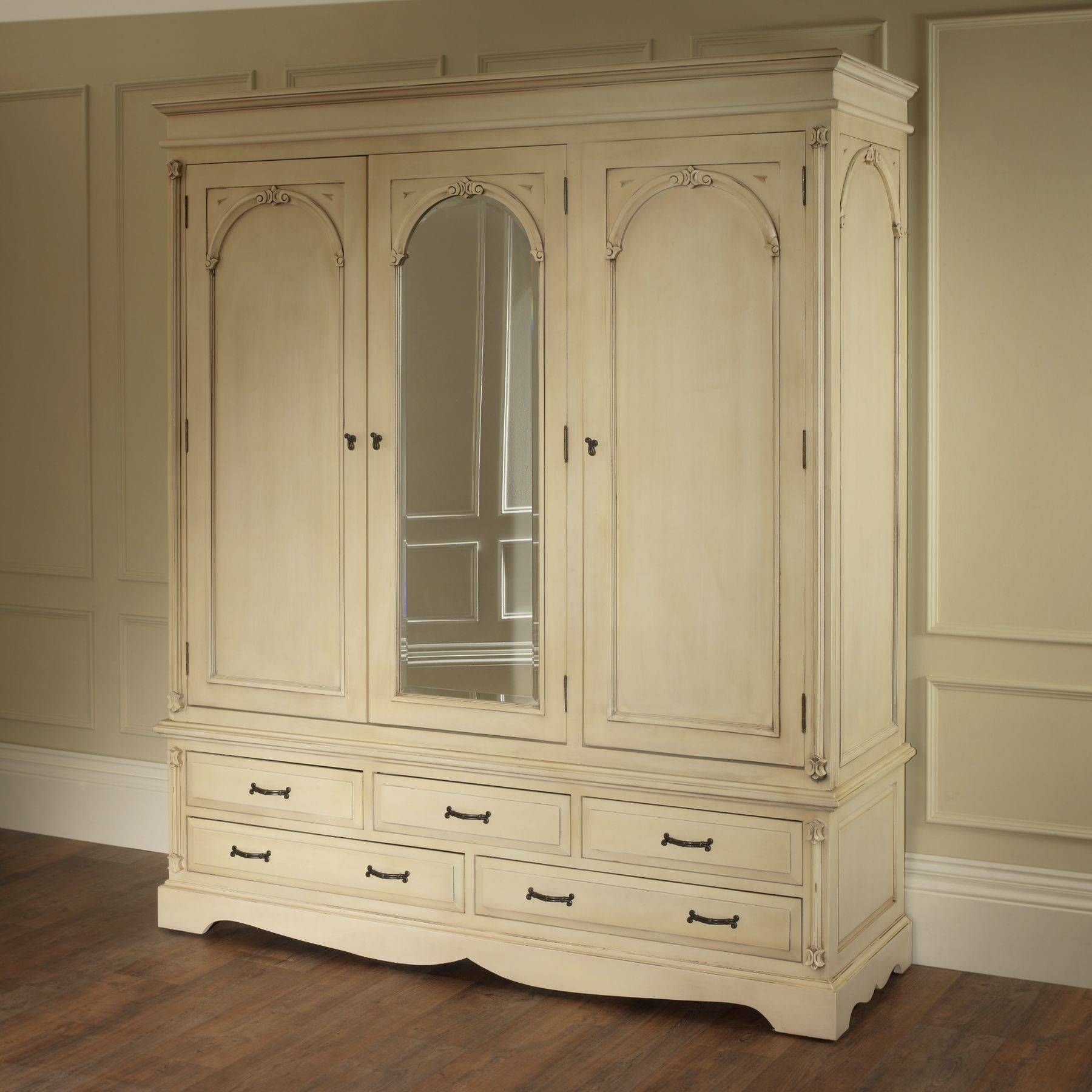 Brusali Wardrobe Explore Gallery Of Cream French Wardrobes Showing 14 Of 15 Photos