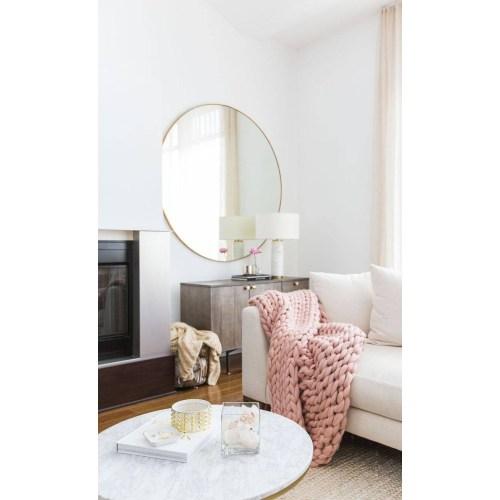 Medium Crop Of Large Round Mirror