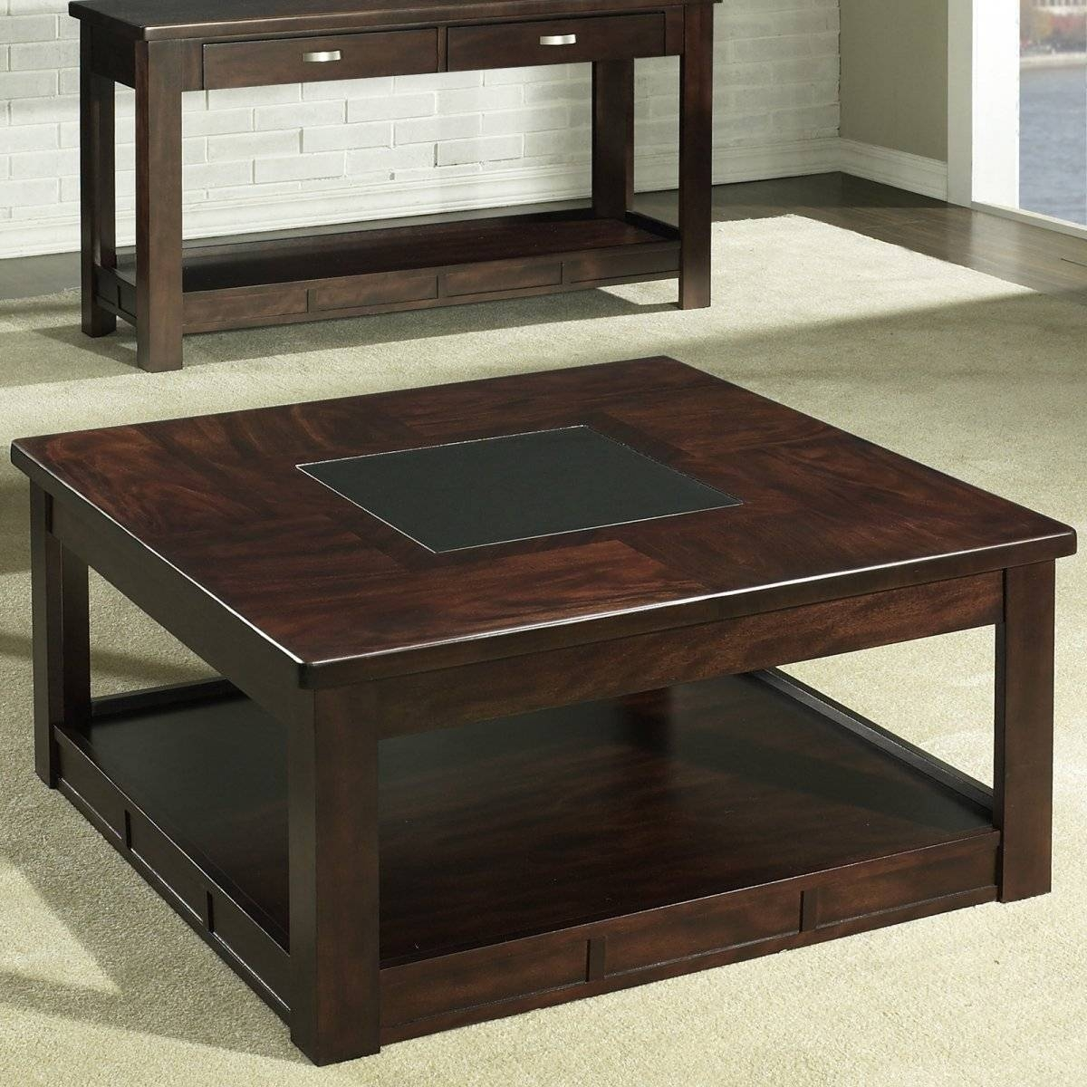 Small Dark Wood Coffee Tables Top 30 Of Square Dark Wood Coffee Table