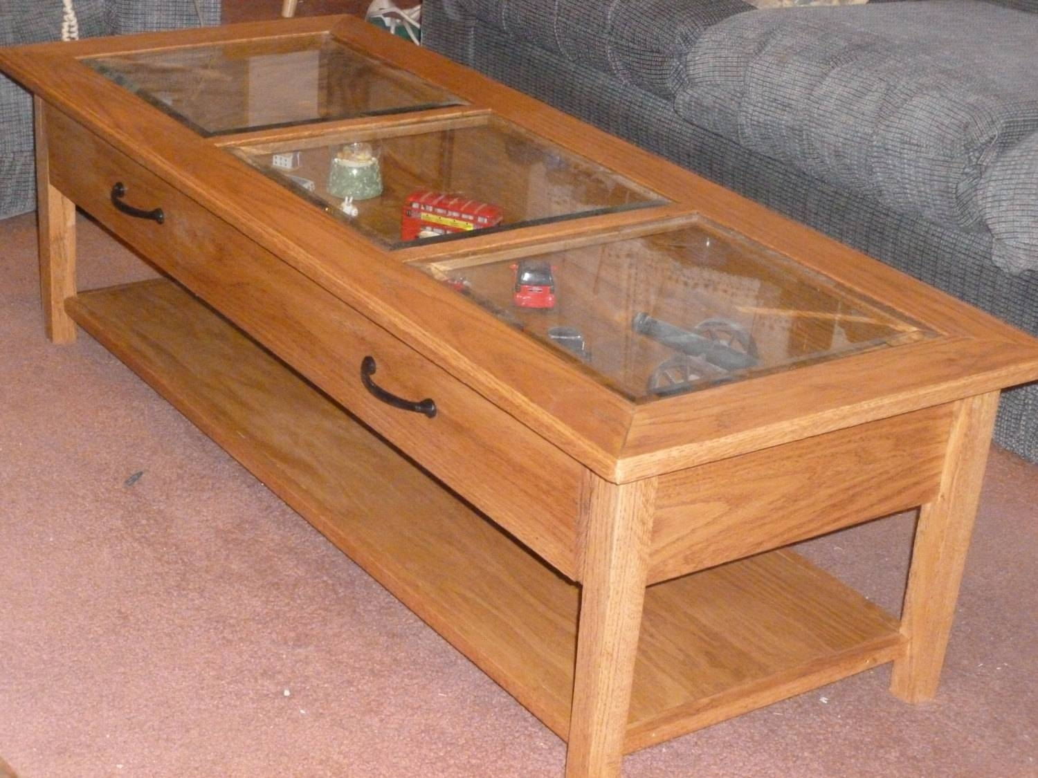 Glass End Table With Drawer 30 Best Ideas Of Coffee Tables With Glass Top Display Drawer