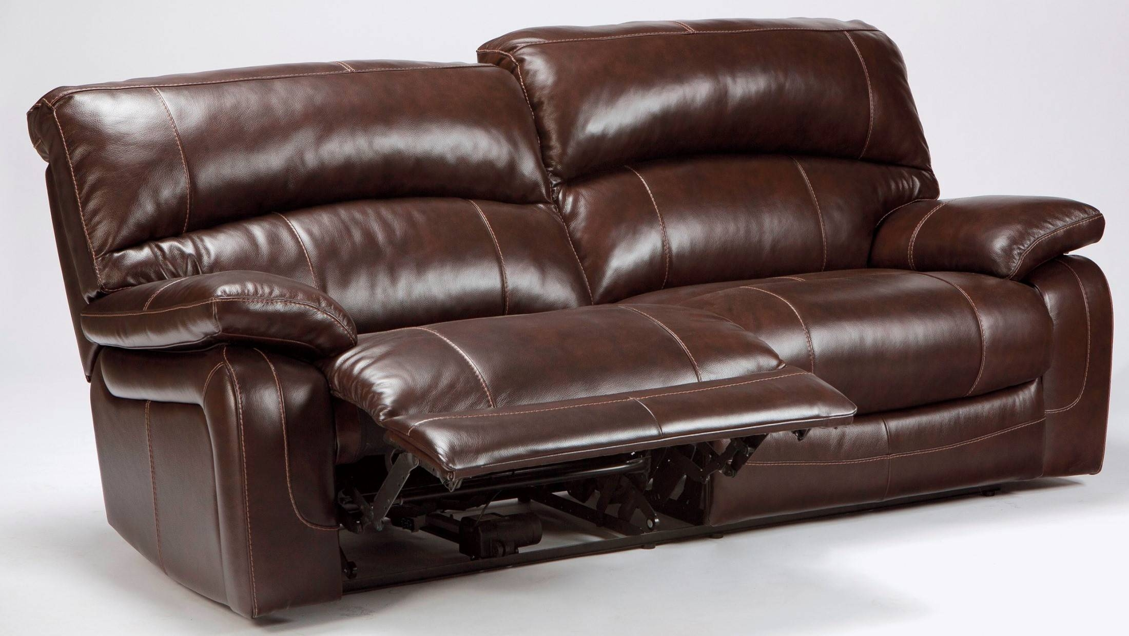 Black Leather 2 Seater Recliner Sofa | Haven Reclining Sofa Cm6554 ...